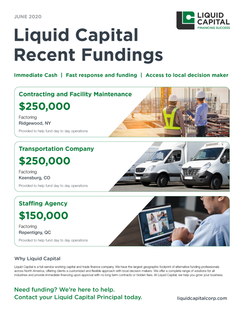 Liquid Capital Recent Fundings - June 2020